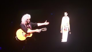 Queen Brian May With Freddie Mercury Audio Love Of My Life Live Birmingham