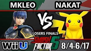Smash Factor 6 Smash 4 - FOX MVG | MKleo (Marth) vs. CLG | Nakat (Fox, Pikachu) - Smash Wii U LF
