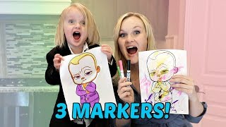 BOSS BABY 3 MARKER CHALLENGE!
