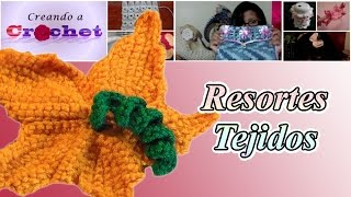 Resorte o rizo tejido en Crochet