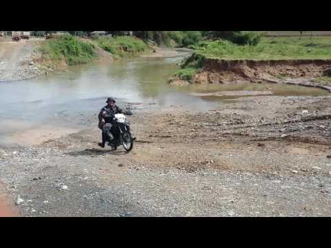 HONDA XRM 125 River crossing