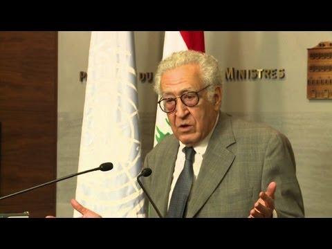 Peace envoy Brahimi in Lebanon for Syria talks