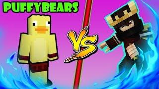 PUFFYBEARS İLE 10 VS 10 KAFES DÖVÜŞÜ !! (Minecraft SmackDown #2)w/EnesPrinter