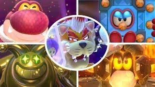 Super Mario 3D World - All Bosses (3 Player)