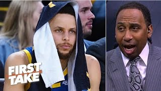 Steph Curry on defense really worries me - Stephen A. | First Take