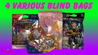 4 Blind Bags ChiChi Love, Dragons Universe, Hello Kitty, Kre-o Star Trek opening unboxing