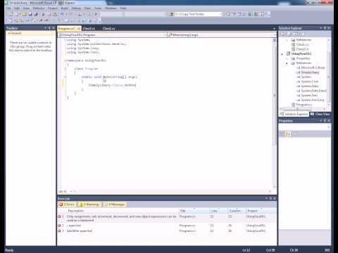 C# - Creating and Using DLL