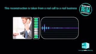 Reconstruction of actual vishing call to a small business - Harwood Estates