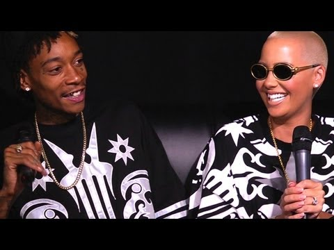 Amber Rose Shows Off Ring & Argues With Wiz Khalifa At Hot97 video