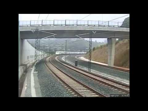 Überwachungsvideo zeigt wie Schnellzug von Santiago de Compostela entgleist