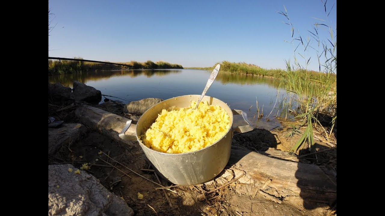 приготовить кашу для рыбалки видео