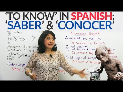 The verb 'to know' in Spanish: 'SABER' and 'CONOCER'