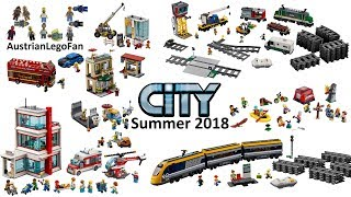 All Lego City Summer Sets 2018 - Trains - People Pack - Capital City - Hospital - Lego Speed Build