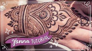 Easy Henna Design for Beginner | Hand Henna