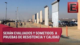 EU revisa los ochos prototipos para el muro fronterizo de Trump