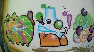 GRAFFITI EBS - Sicodelic nike Aircat