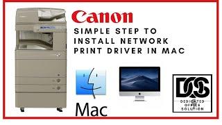 04. Canon IR ADV C50 52 Series Mac Printer Driver Installation