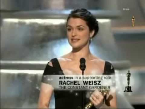 Rachel Weisz winning Best Supporting Actress for The Constant Gardener