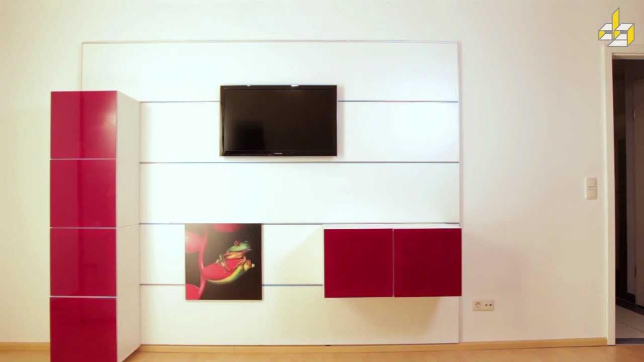wandpaneelsystem montage 1 youtube. Black Bedroom Furniture Sets. Home Design Ideas