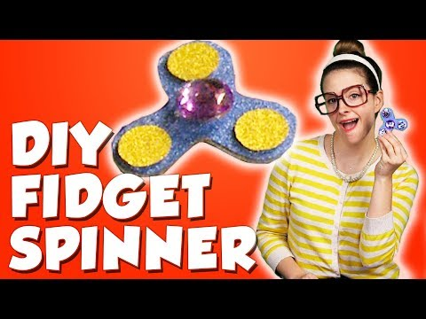 DIY Fidget Spinner! How to Make A Fidget Spinner Toy! | Arts & Crafts with Crafty Carol
