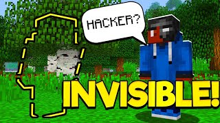 INVISIBLE SKIN FOR MCPE!