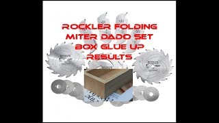 Rockler Miter Fold Dado Box Glue Up & Results