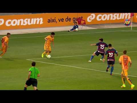 [HIGHLIGHTS] FUTBOL (friendly): Llagostera-FC Barcelona B (1-0)
