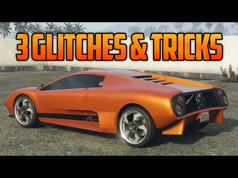 GTA 5 Online - 3 GLITCHES & TRICKS! (Secret Customization, Instantly Repair Cars & Launch Glitch)