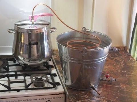 how to make a stove top water distiller