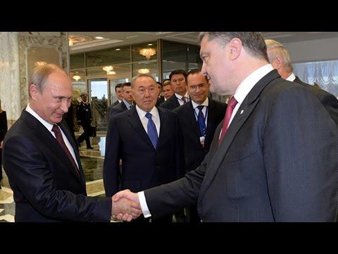 Putin y Poroshenko se reúnen por primera vez cara a cara en Bielorrusia