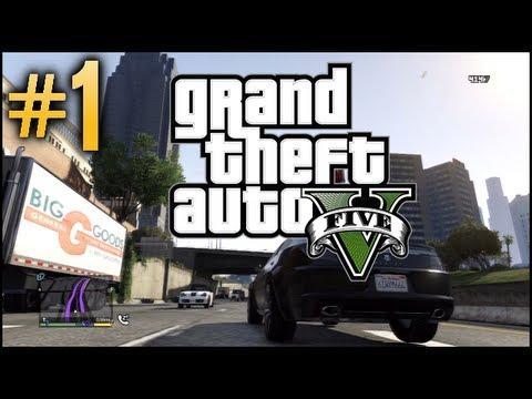 GTA V Free Roam - Part 1 - Welcome to Los Santos!