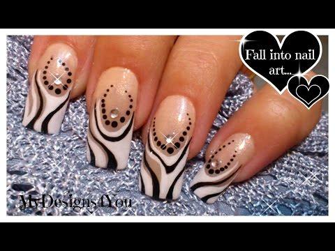 Amazing Black and White French Nail Art Design Tutorial - Fekete és fehér francia köröm