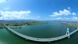 徳島 吉野川 ドローン空撮の動画説明