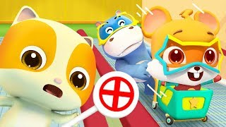 Escalator Safety Song | Indoor Playground Song | Play Safe | Nursery Rhymes | Kids Songs | BabyBus