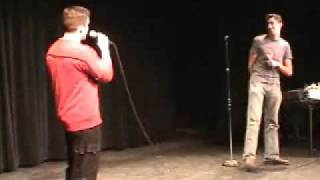 Watch Adam  Andrew Hug The Police video