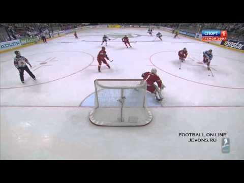 Россия -- Белоруссия   2 - 1. Все голы. Чемпионат мира по хоккею 2014.