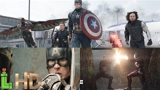 Captain America Civil War - ALL FIGHT SCENES (Opening, Airport & Final Battle) HD