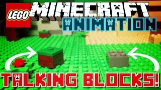 ✔️TALKING BLOCKS! || Minecraft Lego Stop Motion Animation - By AdventureGamingHQ (MCPE)