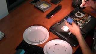 Laptop ASUS N61VN hinge DIY repair time-elapse