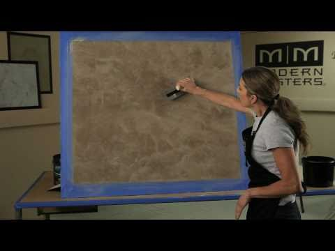 Venetian Plaster Basic Skip Trowel Application Video (short version) by Modern Masters
