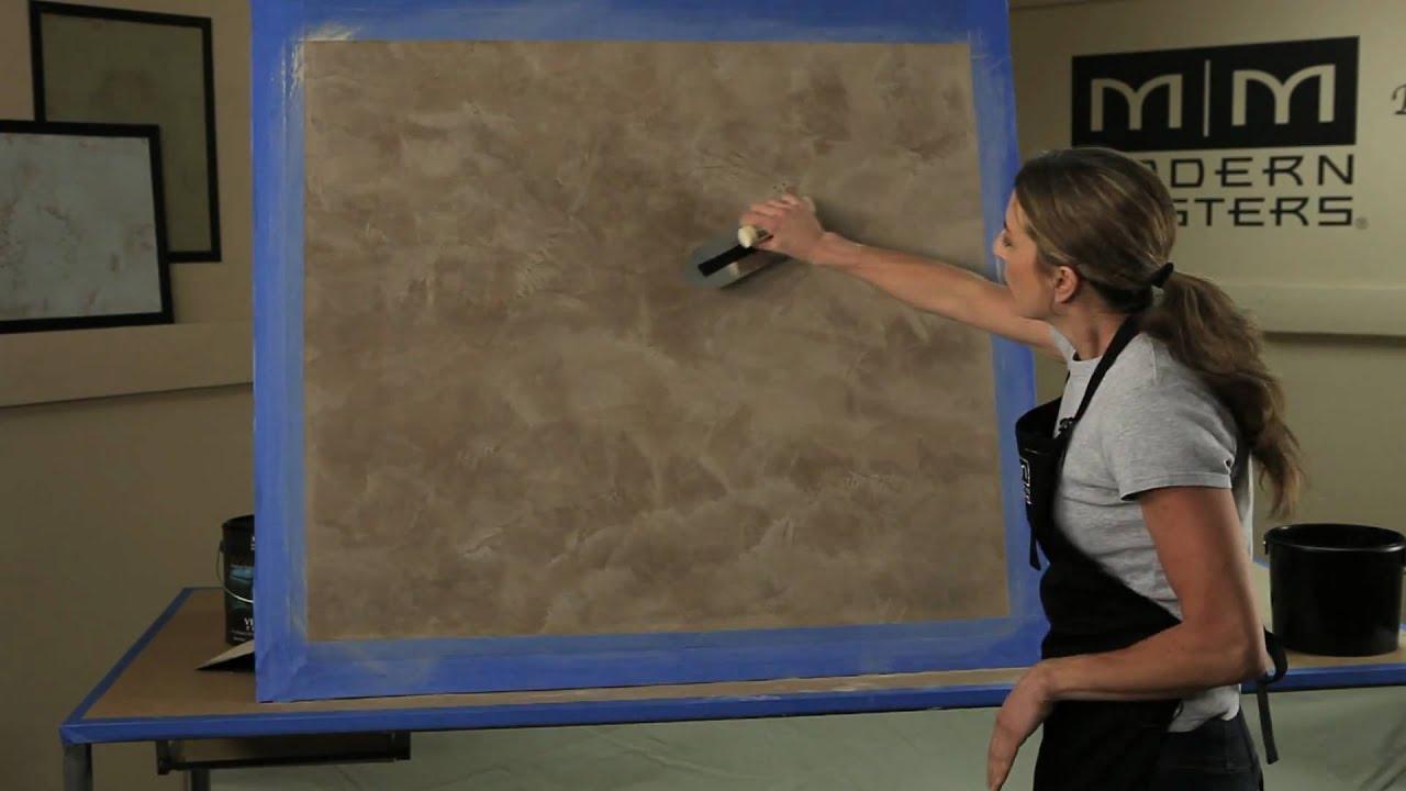 Venetian Plaster Basic Skip Trowel Application Video