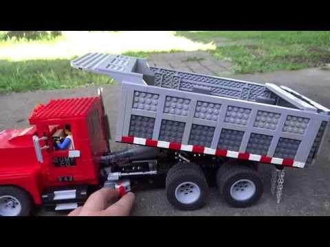 LEGO Power Functions Dump Truck and Conveyor Belt