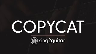 Copycat Acoustic Guitar Karaoke Instrumental Billie Eilish