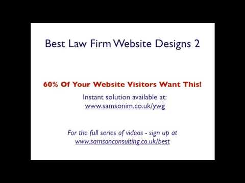 The Best Law Firm Website 2 | Samson Consulting