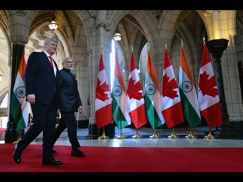 Narendra Modi, Indian PM, Kick's off visit to Canada