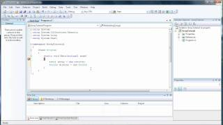 Basic Introduction to Arrays - C# Visual Studio 2008