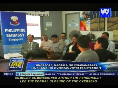 Singapore, nagtala ng pinakamataas na bilang ng overseas voters registration