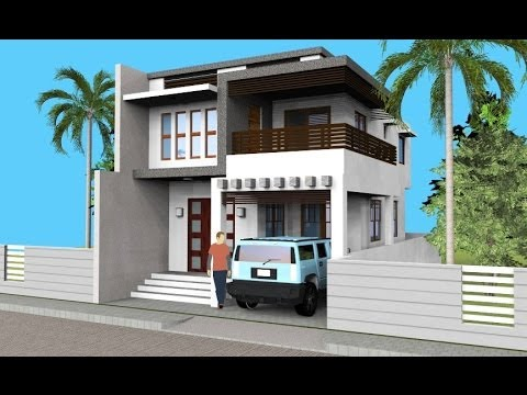 Small modern 2 level house with interior walkthrough youtube for Small urban house plans
