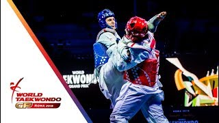 Roma 2018 World Taekwondo GP -Final [Male +80Kg] LARIN, VLADISLAV(RUS) Vs IN, KYO-DON(KOR)