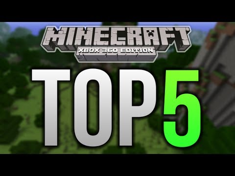 Top 5 Minecraft Xbox 360 Structures ROLLERCOASTERS